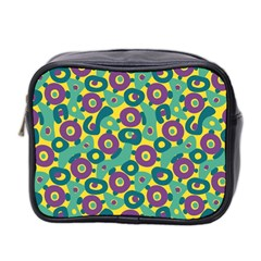Discrete State Turing Pattern Polka Dots Green Purple Yellow Rainbow Sexy Beauty Mini Toiletries Bag 2 Side by Mariart