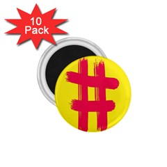 Fun Ain t Gone Fence Sign Red Yellow Flag 1 75  Magnets (10 Pack)  by Mariart