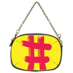 Fun Ain t Gone Fence Sign Red Yellow Flag Chain Purses (two Sides)  by Mariart