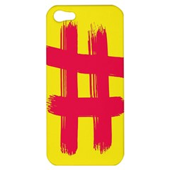 Fun Ain t Gone Fence Sign Red Yellow Flag Apple Iphone 5 Hardshell Case by Mariart