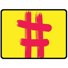 Fun Ain t Gone Fence Sign Red Yellow Flag Double Sided Fleece Blanket (large)  by Mariart