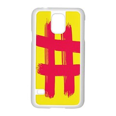 Fun Ain t Gone Fence Sign Red Yellow Flag Samsung Galaxy S5 Case (white) by Mariart