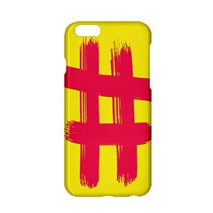 Fun Ain t Gone Fence Sign Red Yellow Flag Apple Iphone 6/6s Hardshell Case by Mariart