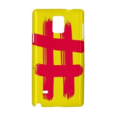 Fun Ain t Gone Fence Sign Red Yellow Flag Samsung Galaxy Note 4 Hardshell Case by Mariart