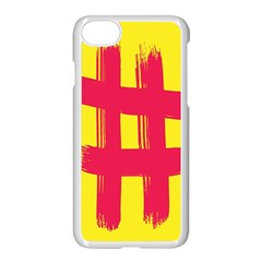 Fun Ain t Gone Fence Sign Red Yellow Flag Apple Iphone 7 Seamless Case (white) by Mariart