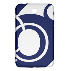 Garamond Blue White Wave Chevron Samsung Galaxy Tab 3 (7 ) P3200 Hardshell Case  by Mariart