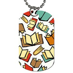 Friends Library Lobby Book Sale Dog Tag (two Sides) by Mariart