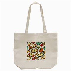 Friends Library Lobby Book Sale Tote Bag (cream) by Mariart