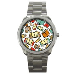 Friends Library Lobby Book Sale Sport Metal Watch by Mariart