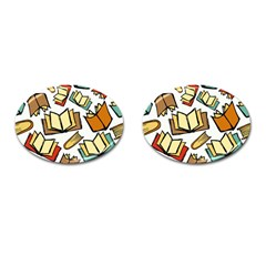 Friends Library Lobby Book Sale Cufflinks (oval) by Mariart