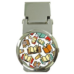 Friends Library Lobby Book Sale Money Clip Watches by Mariart