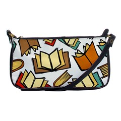 Friends Library Lobby Book Sale Shoulder Clutch Bags by Mariart
