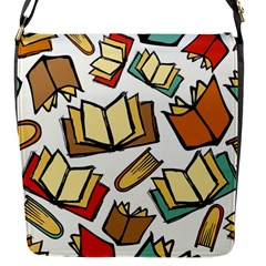 Friends Library Lobby Book Sale Flap Messenger Bag (s) by Mariart