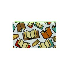 Friends Library Lobby Book Sale Cosmetic Bag (xs) by Mariart