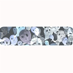 Ghosts Blue Sinister Helloween Face Mask Large Bar Mats by Mariart