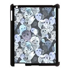 Ghosts Blue Sinister Helloween Face Mask Apple Ipad 3/4 Case (black) by Mariart