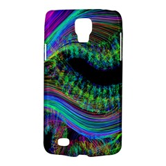Aurora Wave Colorful Space Line Light Neon Visual Cortex Plate Galaxy S4 Active by Mariart