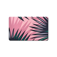Graciela Detail Petticoat Palm Pink Green Magnet (name Card) by Mariart