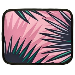 Graciela Detail Petticoat Palm Pink Green Netbook Case (large) by Mariart