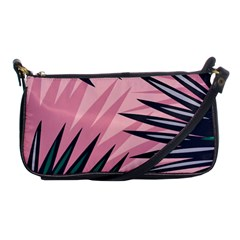 Graciela Detail Petticoat Palm Pink Green Shoulder Clutch Bags by Mariart