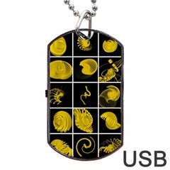 Grasshopper Rhino Spirograph Beautiful Fabulous Dog Tag Usb Flash (two Sides) by Mariart