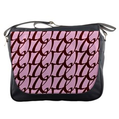 Letter Font Zapfino Appear Messenger Bags by Mariart