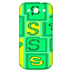 Letter Huruf S Sign Green Yellow Samsung Galaxy S3 S Iii Classic Hardshell Back Case by Mariart