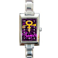 Prince Poster Rectangle Italian Charm Watch by Onesevenart