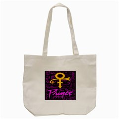 Prince Poster Tote Bag (cream) by Onesevenart