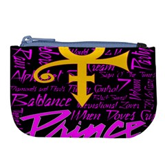 Prince Poster Large Coin Purse by Onesevenart