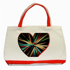 Above & Beyond Classic Tote Bag (red) by Onesevenart