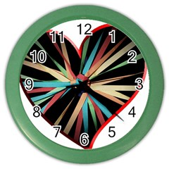 Above & Beyond Color Wall Clocks by Onesevenart
