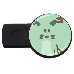 Lineless Background For Minty Wildlife Monster Usb Flash Drive Round (2 Gb) by Mariart