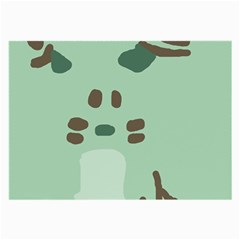 Lineless Background For Minty Wildlife Monster Large Glasses Cloth by Mariart