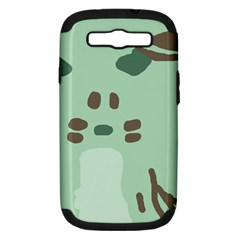 Lineless Background For Minty Wildlife Monster Samsung Galaxy S Iii Hardshell Case (pc+silicone) by Mariart
