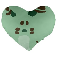 Lineless Background For Minty Wildlife Monster Large 19  Premium Heart Shape Cushions by Mariart