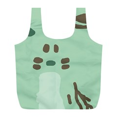 Lineless Background For Minty Wildlife Monster Full Print Recycle Bags (l)  by Mariart
