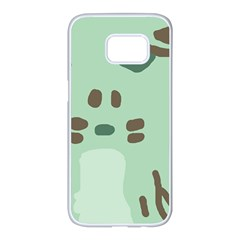 Lineless Background For Minty Wildlife Monster Samsung Galaxy S7 Edge White Seamless Case by Mariart