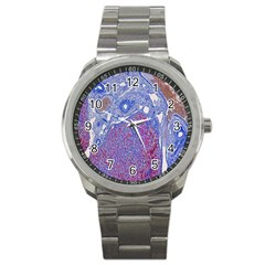 Histology Inc Histo Logistics Incorporated Human Liver Rhodanine Stain Copper Sport Metal Watch by Mariart