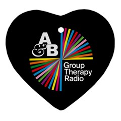 Above & Beyond  Group Therapy Radio Ornament (heart) by Onesevenart