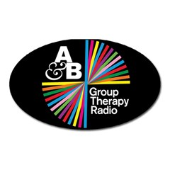 Above & Beyond  Group Therapy Radio Oval Magnet by Onesevenart