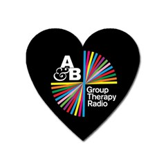 Above & Beyond  Group Therapy Radio Heart Magnet by Onesevenart