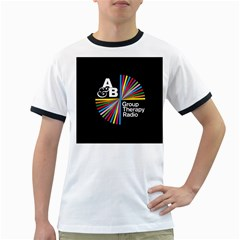 Above & Beyond  Group Therapy Radio Ringer T Shirts by Onesevenart