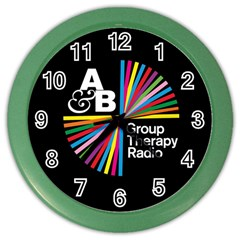 Above & Beyond  Group Therapy Radio Color Wall Clocks by Onesevenart