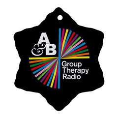 Above & Beyond  Group Therapy Radio Ornament (snowflake) by Onesevenart