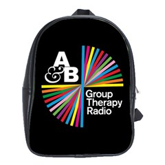 Above & Beyond  Group Therapy Radio School Bag (xl) by Onesevenart