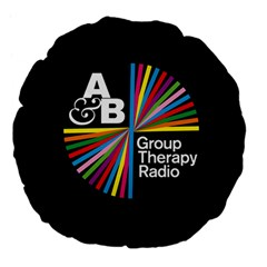 Above & Beyond  Group Therapy Radio Large 18  Premium Flano Round Cushions by Onesevenart