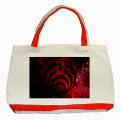 Bassnectar Galaxy Nebula Classic Tote Bag (red) by Onesevenart