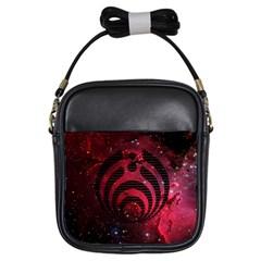 Bassnectar Galaxy Nebula Girls Sling Bags by Onesevenart