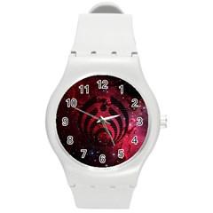 Bassnectar Galaxy Nebula Round Plastic Sport Watch (m) by Onesevenart